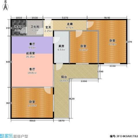 �莲馨苑(尾盘)1卫1厨129.00㎡户型图