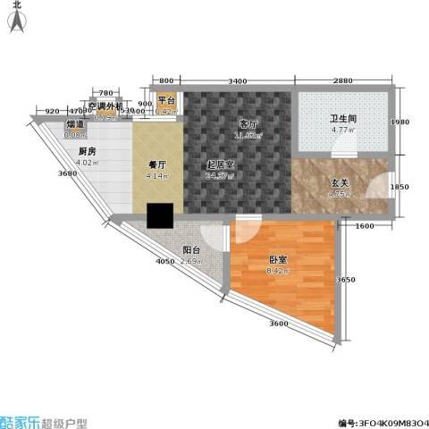 江州世纪英皇1卫0厨40.81㎡户型图