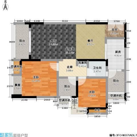 保利 椰风半岛2室0厅1卫1厨72.37㎡户型图