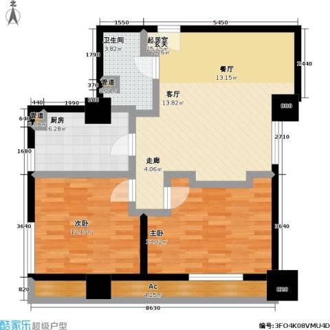 嘉业国际城2室0厅1卫1厨103.00㎡户型图