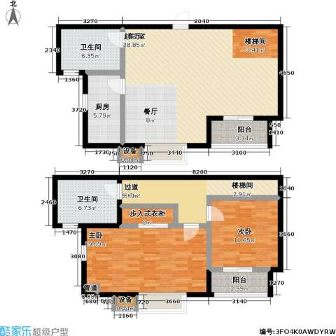 瑞泰澜庭2室0厅2卫1厨126.00㎡户型图