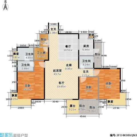 风和日丽四期3室0厅3卫1厨130.56㎡户型图