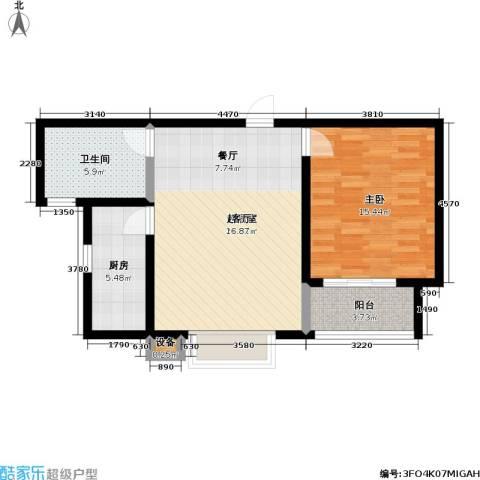 瑞泰澜庭1室0厅1卫1厨63.00㎡户型图