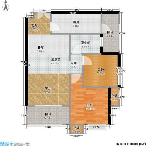 重庆天地雍江悦庭 重庆天地・雍江悦庭2室0厅1卫1厨93.00㎡户型图