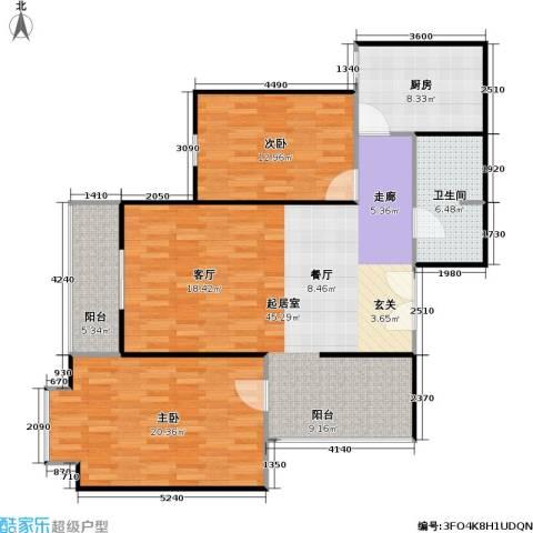 柏林在线2室0厅1卫1厨105.00㎡户型图
