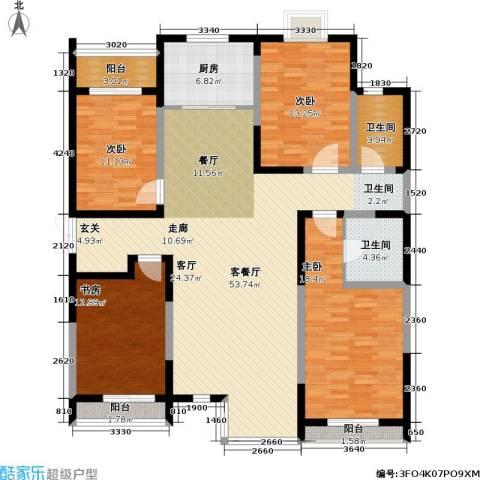 春江花月4室1厅2卫1厨150.00㎡户型图