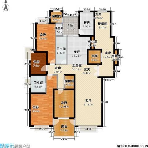 天山・汇景园4室0厅3卫1厨196.00㎡户型图