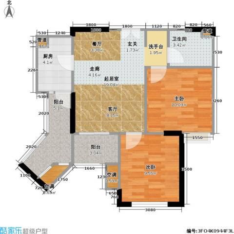 康德・城市风云 城市风云社区2室0厅1卫1厨55.77㎡户型图