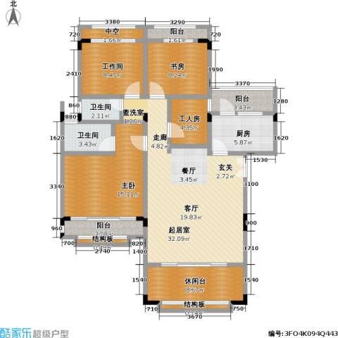 建工未来城一期2室0厅2卫1厨116.00㎡户型图