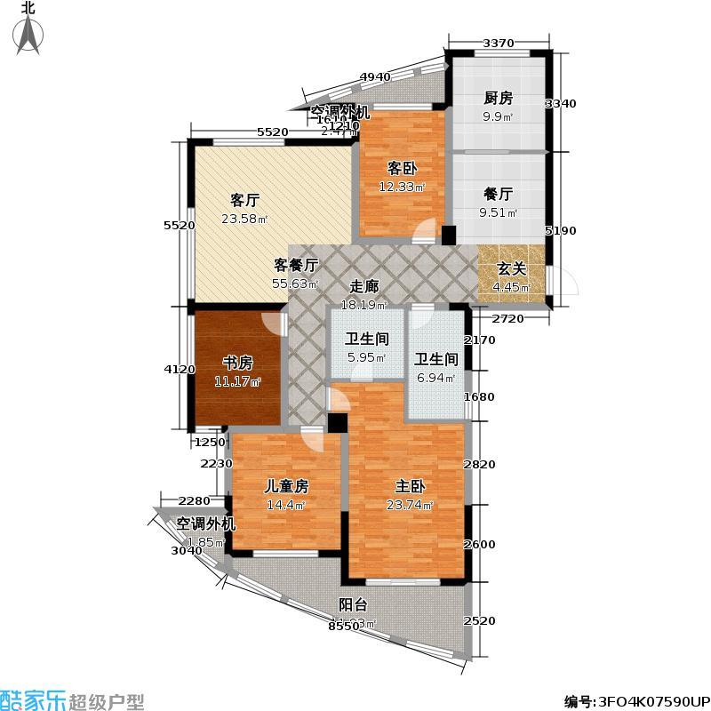 国都・枫华府第149.00㎡房型户型