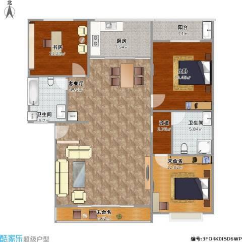 西苑小区2室1厅2卫1厨153.00㎡户型图