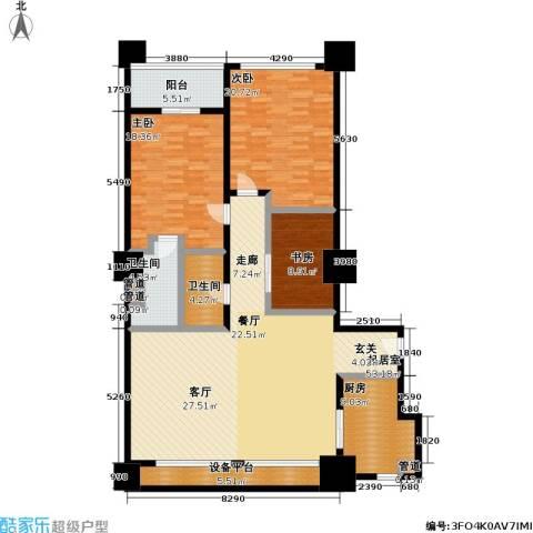 嘉业国际城3室0厅2卫1厨152.00㎡户型图