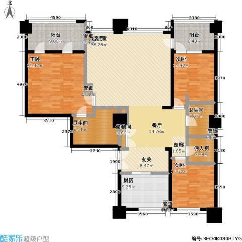 嘉业国际城3室0厅2卫1厨211.00㎡户型图