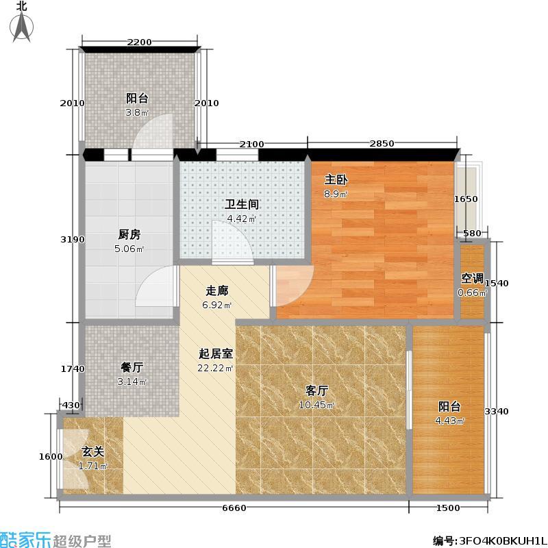 重庆天地雍江悦庭重庆天地・雍江悦庭53.00㎡5号楼6户型
