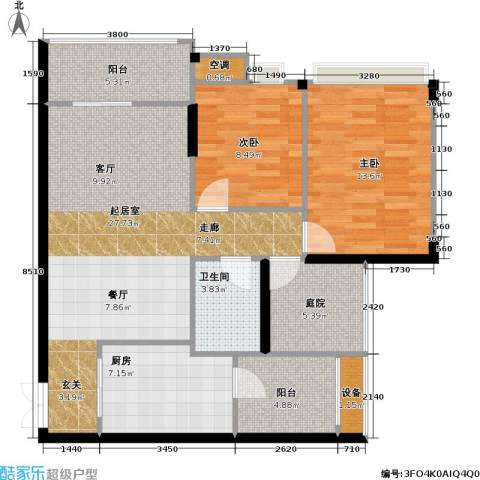重庆天地雍江悦庭 重庆天地・雍江悦庭2室0厅1卫1厨78.21㎡户型图