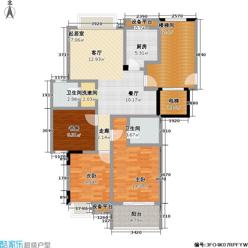 崇文公寓108.00㎡房型户型