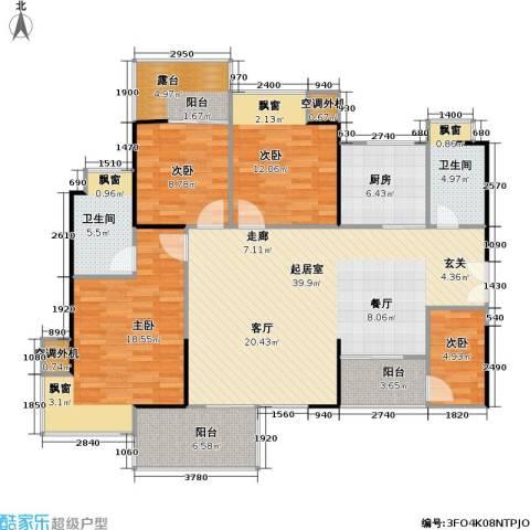 风和日丽四期4室0厅2卫1厨127.05㎡户型图