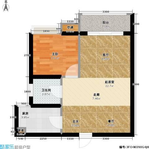 祥御・巴山二期 祥御巴山三期1室0厅1卫1厨57.00㎡户型图
