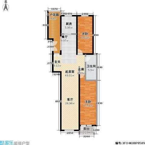 弗莱明戈2室0厅1卫1厨110.00㎡户型图
