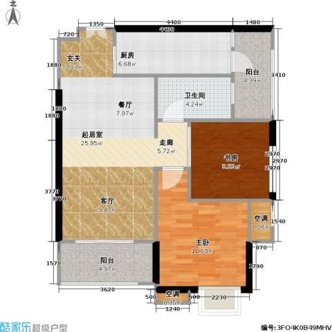 重庆天地雍江悦庭 重庆天地・雍江悦庭2室0厅1卫1厨69.00㎡户型图