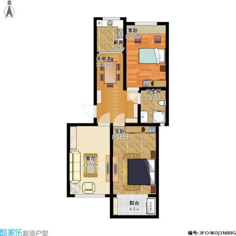 燕鑫花苑1室1厅1卫1厨91.00㎡户型图