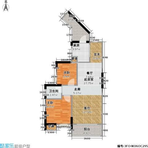 祥御・巴山二期 祥御巴山三期2室0厅1卫1厨59.00㎡户型图