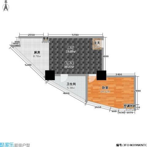 江州世纪英皇1卫0厨49.10㎡户型图