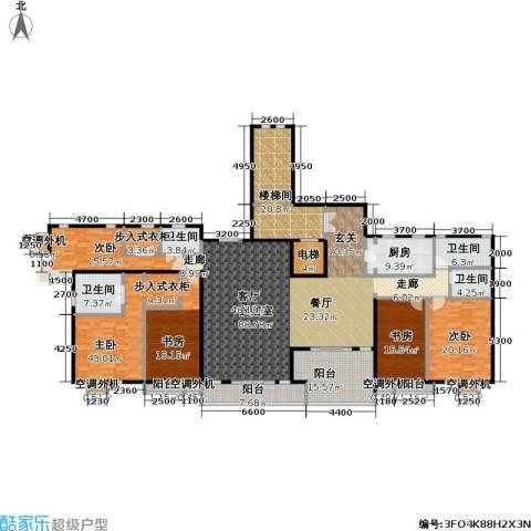 建邦华府4室0厅4卫1厨270.49㎡户型图