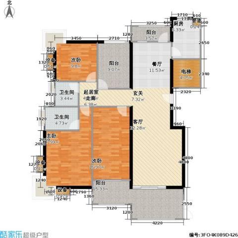 翰林国际领颂 翰林国际3室0厅2卫1厨152.00㎡户型图