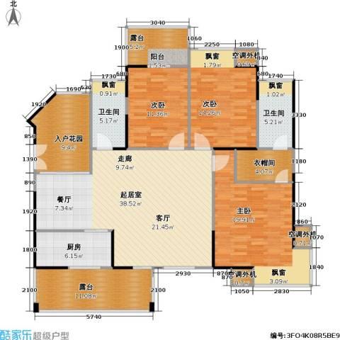 风和日丽四期3室0厅2卫1厨142.64㎡户型图