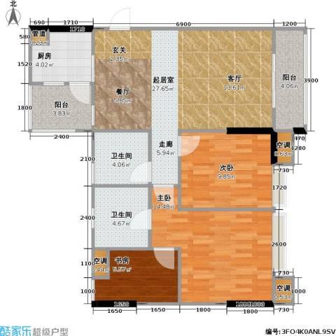 祥御・巴山二期 祥御巴山三期3室0厅2卫1厨81.00㎡户型图