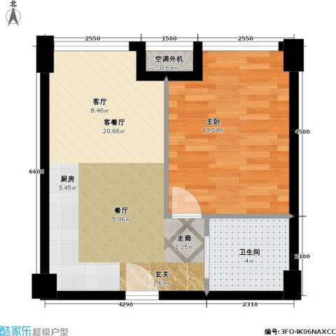 禧福汇 汇禾・禧福汇1室1厅1卫0厨55.00㎡户型图