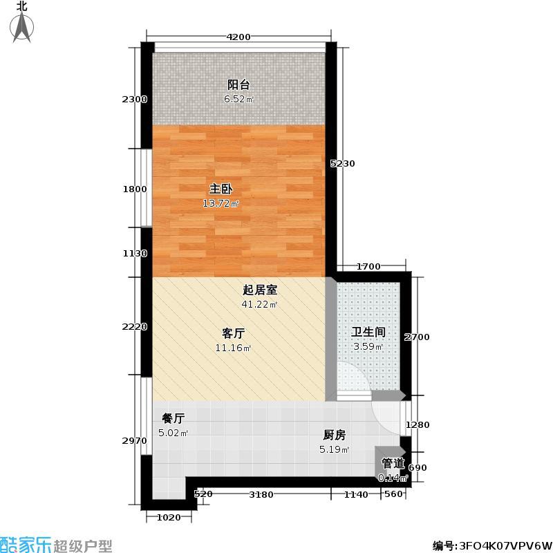 龙禧硅谷广场51.00㎡房型户型