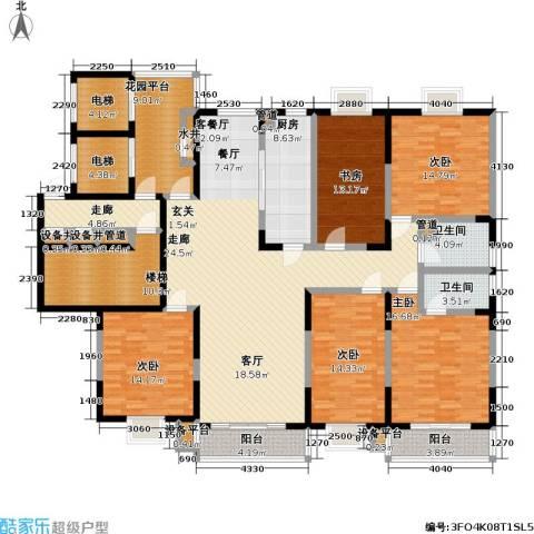 太平宝邸5室1厅2卫1厨270.00㎡户型图