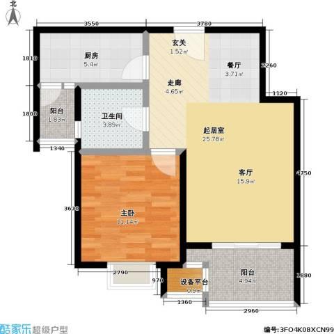 置地新唯花园1室0厅1卫1厨77.00㎡户型图