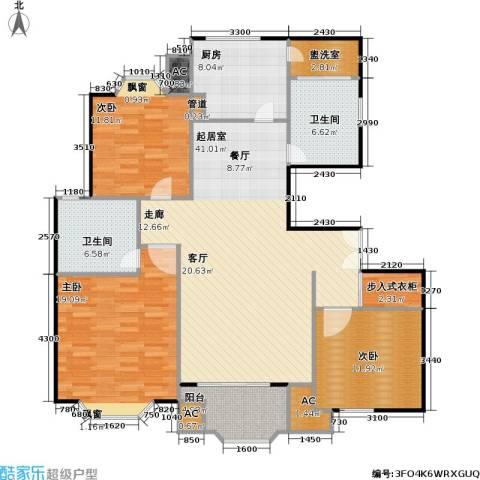 西班牙名园一期3室0厅2卫1厨160.00㎡户型图
