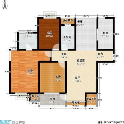 置地新唯花园3室0厅2卫1厨120.00㎡户型图
