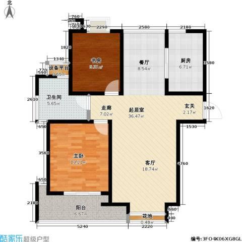 置地新唯花园2室0厅1卫1厨112.00㎡户型图