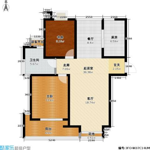 置地新唯花园2室0厅1卫1厨83.00㎡户型图