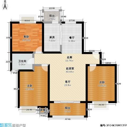 恒大翰城四期3室0厅1卫1厨153.00㎡户型图