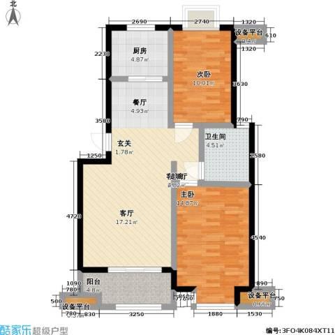 乾和福邸2室1厅1卫1厨81.00㎡户型图