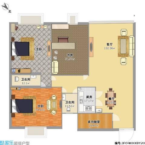 荣旺·东方国际3室1厅2卫1厨624.00㎡户型图