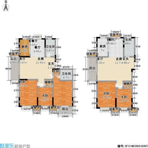滨河御景5室2厅3卫2厨310.00㎡户型图