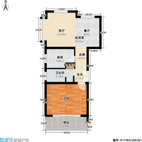 联鑫虹桥苑一期1室0厅0卫1厨83.00㎡户型图