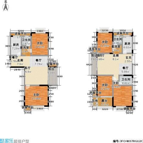 滨河御景5室2厅3卫2厨272.00㎡户型图