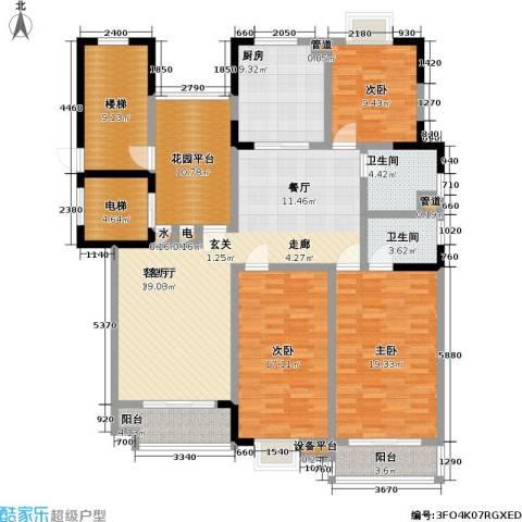 太平宝邸3室1厅2卫1厨192.00㎡户型图