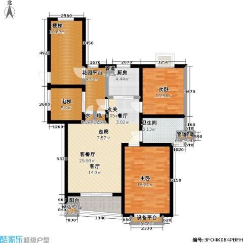 太平宝邸2室1厅1卫1厨89.00㎡户型图