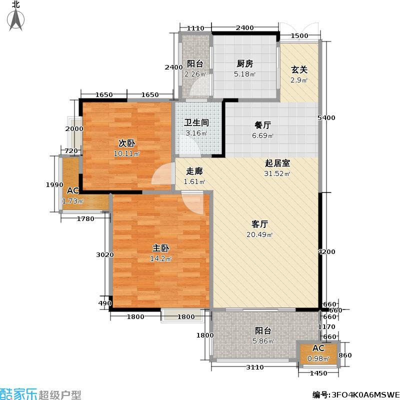 北国风光55.42㎡房型户型