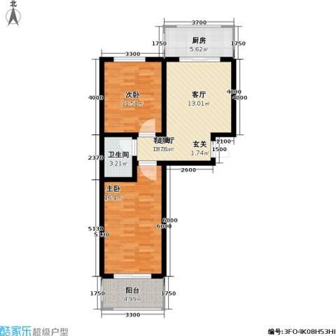 神奇庭院2室1厅1卫1厨79.00㎡户型图