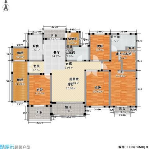 住友宝莲府邸4室0厅2卫1厨191.00㎡户型图